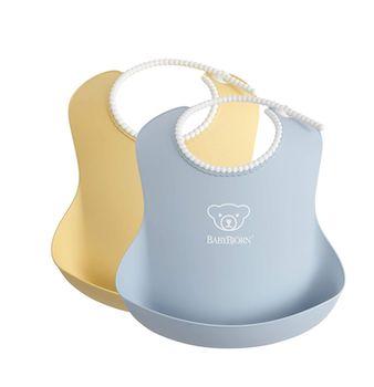 купить Набор нагрудников силиконовых BabyBjorn Powder Yellow / Powder Blue в Кишинёве