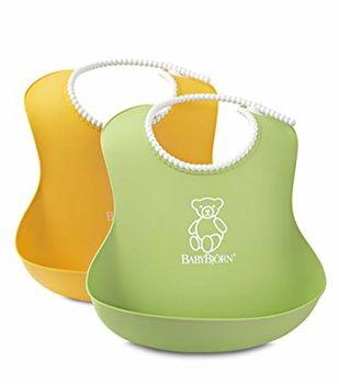 купить Комплект нагрудников BabyBjorn Soft Bib  Green/Yellow, 2 шт. в Кишинёве