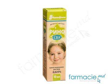 cumpără Rino-baby pic. nazale, 0.025% 10ml în Chișinău