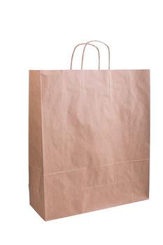 Бумажные крафт пакеты с кручеными ручками 39*14*44