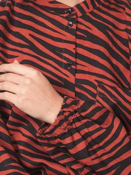 Блуза Tom Tailor Коричневый/черный 1016712