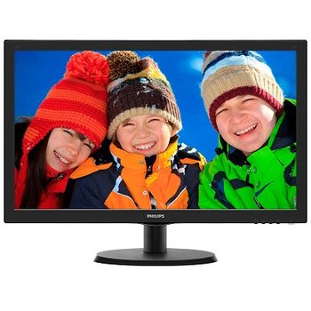 "Monitor 21.5"" PHILIPS LED 223V5LHSB2  Black (5ms, 10M:1, 250cd, 1920x1080, VGA, HDMI, Headphone-Out)"
