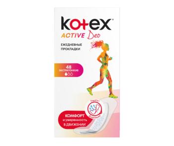купить Ежедневные прокладки Kotex Active Deo, 48 шт. в Кишинёве