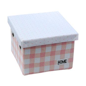 купить Коробка с крышкой 220x220x160 мм, розовый в Кишинёве