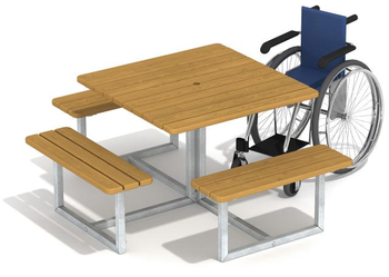 Стол уличный с местом для коляски