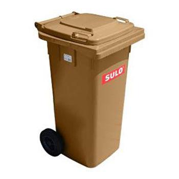 купить Контейнер для мусора 240 л, коричневый в Кишинёве
