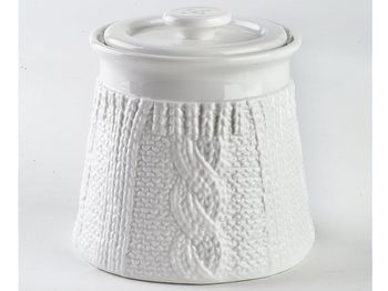 Емкость 500ml Tognana Pullover, белая, керамика