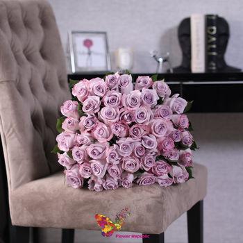 cumpără 51 trandafir violet  Ecuador 70-80cm în Chișinău