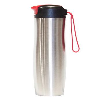 купить Кружка термос нерж. сталь - с ручкой (красный) в Кишинёве