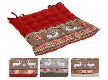 купить Подушка для стула рождеств с оленями, 40Х40сm в Кишинёве