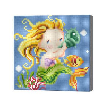Маленькая русалка, 20x20 см, алмазная мозаика