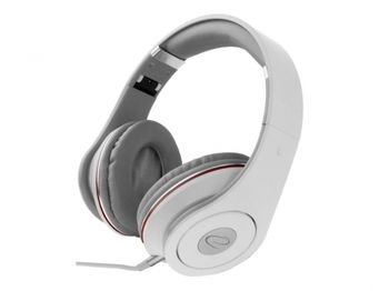 """Esperanza EH141K """"RENELL"""" White, Stereo audio Headphones with Volume control, 5 m cable lenght"""