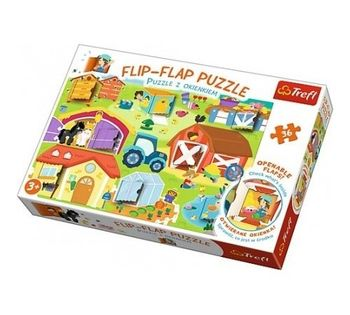 "Пазлы ""36 Flip-flap puzzle"" - On the farm"",код 40527"
