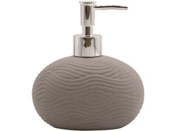 Диспенсер для жидкого мыла Wave серый, керамика