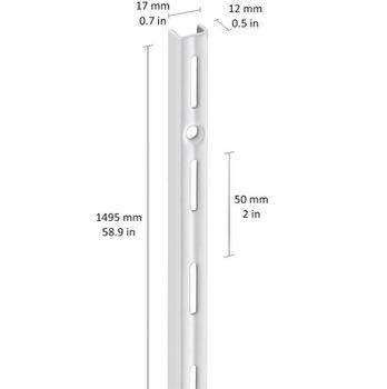 купить Profil perete perforație simplă 1500 mm TGM, alb в Кишинёве
