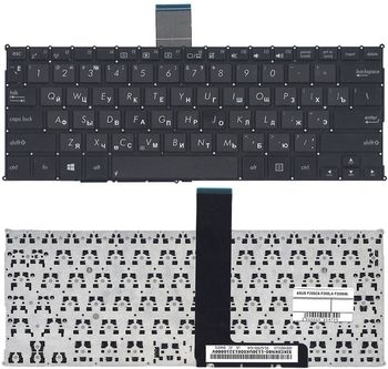 "Keyboard Asus X200 F200 R202 w/o frame ""ENTER""-small ENG/RU Black"