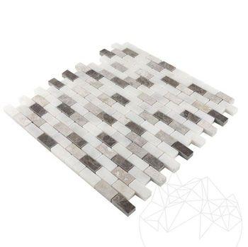 cumpără Mozaic Marmura Mix Polisata 3.2 x 1.5 cm Emperador / Tundra în Chișinău