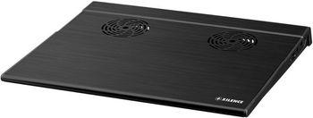 "XILENCE XPLP-B.B, Notebook Cooling Pad up to 15"", 2 fans - 65 mm, 2000rpm, <17,6 dBA, 2x USB, Black"