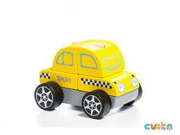 купить Cubika Деревянный конструктор Машина Такси в Кишинёве