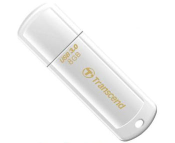 Transcend JetFlash 730 8GB Glossy White USB 3.0 (Read 70 MByte/s, Write 20 MByte/s)