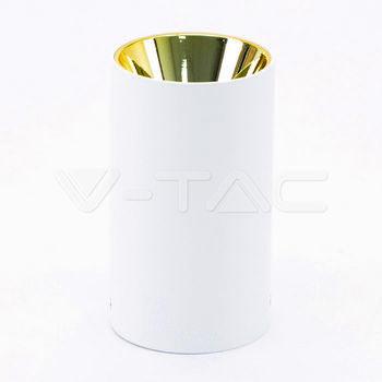 купить 8591 Спот круг накладной белый+золото в Кишинёве