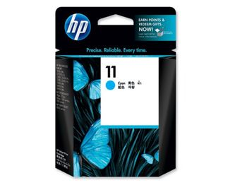 HP №11 Cyan Ink Cartridge, 28ml, 1750 pages at 15% density, for business inkjet 2200, 2230, 2250, 2280, 2600, cp1700, designjet 100, 10ps/20ps/50ps, Malaysia