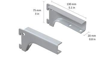 купить Кронштейн для полки PAL 25 мм, 1 пара, серый в Кишинёве