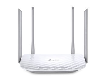 TP-LINK  Archer C50, AC1200 Dual Band Wireless Router, Atheros, 867Mbps at 5Ghz + 300Mbps at 2.4Ghz, 802.11ac/a/b/g/n, 1 WAN + 4 LAN, Wireless On/Off and WPS button, 1xUSB port, 2 external antennas