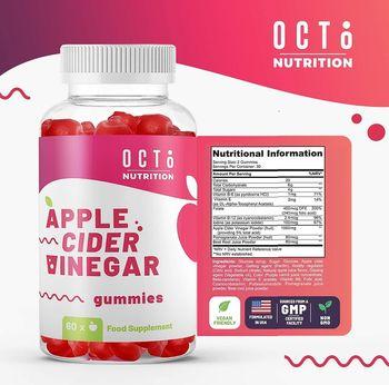 cumpără Apple Cider Vinegar jeleuri masticabile N60 (Otet de mere,VitE,B6,B12) în Chișinău