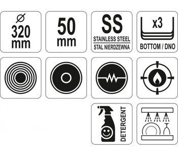 cumpără Tigaie profesională cu inducție și diametru 32 cm în Chișinău