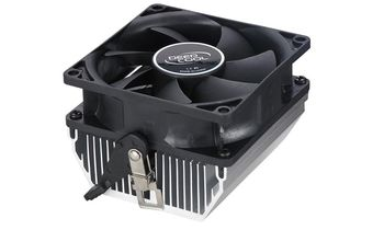 "DEEPCOOL Cooler ""CK-AM209"", Socket AM3/AM3+/FM1/FM2 up to 65W, 80x80x25mm, 2800rpm, <28dBA, 35CFM, 3pins, Hydro Bearing, Aluminium Heatsink (100pcs/box)"