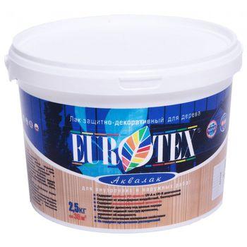 Eurotex Лак Eurotex Аквалак Махагон 2.5кг
