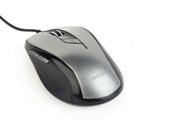 купить Mouse Gembird MUS-6B-01, Optical, 800-1600 dpi, 6 buttons, Ambidextrous, Black, USB в Кишинёве