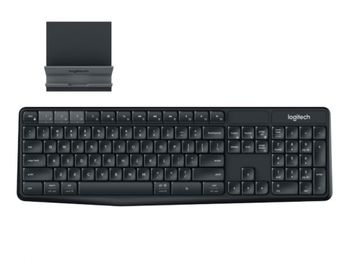 купить Wireless Keyboard Logitech K375s Multi-Device, Full-size, FN key, Bluetooth/2.4Ghz, 2xAAA, Graphite в Кишинёве