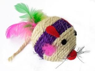 купить Игрушка веревочная с перьями, разные цвета, R1006-8 в Кишинёве