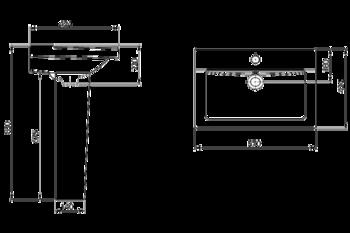 Умывальник с пьедесталом Santeri Orion 57x43