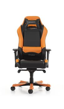 Gaming Chairs DXRacer - Iron GC-I11-NO-S4, Black/Black/Orange - PU leather & PVC leather, Gamer weight up to 130kg / growth 160-195cm,Foam Density 52kg/m3,5-star Wide Alum Base,Gas Lift 4 Class,Recline 90*-135*,Armrests:4D,Pillow-2,Caster-3*PU,W-30kg