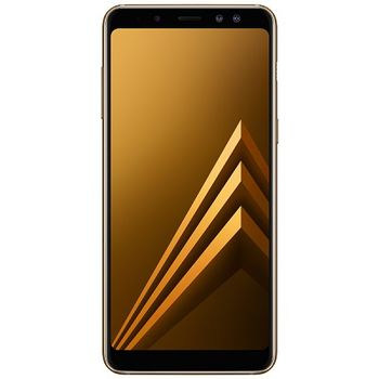 "Samsung Galaxy A8 (2018) 32GB EU Gold, DualSIM, 5.6"" 1080x2220 Super AMOLED, Exynos 7885, Octa-Core up to 2.2GHz, 4GB RAM, Mali G71, microSD (dedicated slot), 16MP/16MP+8MP, LED flash, 3000mAh, WiFi-AC/BT5.0,NFC, LTE, Android 8.0"