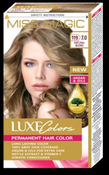 Краска для волос,SOLVEX Miss Magic Luxe Colors, 108 мл., 119 (7.0) - Лесной орех
