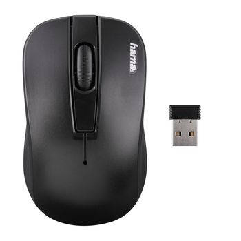 "Hama 134915 ""AM-7700"" Wireless Optical Mouse, glossy, black"