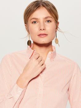 Блуза MOHITO Коралловый в полоску vb652-32p