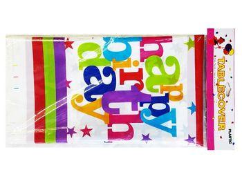 Скатерть бумажная Happy Birthday 180X108cm