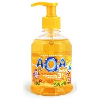 купить AQA baby Жидкое мыло для детей Янтарная Лагуна 300 мл в Кишинёве