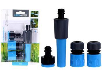 Набор коннекторов с наконечником для шланга 4шт, синий