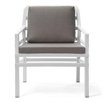 Кресло с подушками Nardi ARIA BIANCO grigio Sunbrella 40330.00.136.136 (Кресло с подушками для сада и терас)