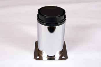 Picior reglabil crom+plastic H50/Ø50 mm