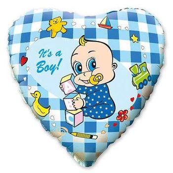купить Сердечко с Малышом - Голубое в Кишинёве