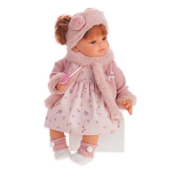 Кукла Бени с шарфиком 40 см Код 1667