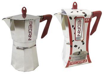 Ibric de cafea pentru 9 cani Pedrini, din aluminiu clasica