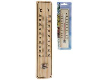 Термометр настенный 22cm, классический, дерево